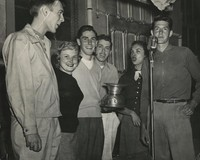 1950 Campus Day: Group in Gym