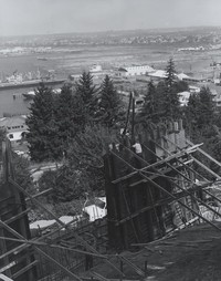 1969 Addition Construction With View of Bellingham Bay