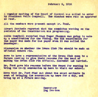 AS Board Minutes 1932-02