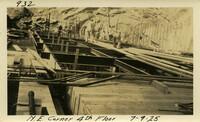 Lower Baker River dam construction 1925-07-09 N.E. Corner 4th Floor