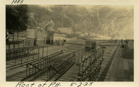 Lower Baker River dam construction 1925-08-02 Roof of P.H.