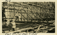 Lower Baker River dam construction 1925-07-13 East 4th Floor Walls