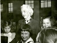 1949 Priscilla Kinsman With Students