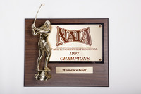 Golf (Women's) Plaque: NAIA Pacific Northwest Regional Champions, 1997