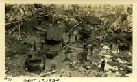 Lower Baker River dam construction 1924-09-17 Excavation at dam
