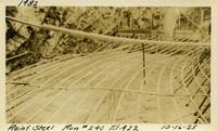 Lower Baker River dam construction 1925-10-16 Reinf Steel Run #240 E.422