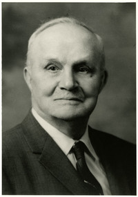 Formal studio portrait of Edward W. Stimpson
