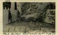 Lower Baker River dam construction 1925-07-22 Rock Surface Run #169 El.3370