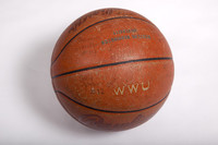 Basketball (Women's): Signed basketball (side 2), undated