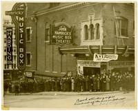 Crowd waiting to see Gunnar Anderson at John Hamrick's Music Box Theatre in Tacoma