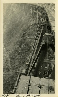Lower Baker River dam construction 1924-11-19 Railroad trestle