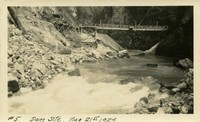 Lower Baker River dam construction 1924-08-21 Dam Site- Upstream view of river
