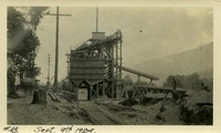 Lower Baker River dam construction 1924-09-09 Concrete mixing plant