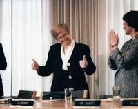 1993 Karen Morse Announced as President