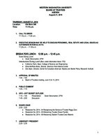 WWU Board of Trustees Packet: 2014-08-21