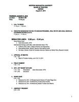 WWU Board of Trustees Packet: 2014-08-21