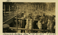 Lower Baker River dam construction 1925-07-28 Concrete Surface Run #175 El.389
