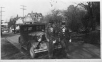 Two men with model T