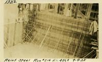 Lower Baker River dam construction 1925-09-09 Reinf Steel Run #214 El.406.5