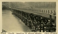 Lower Baker River dam construction 1924-10-01 Trestle Leading to Gravel Washer