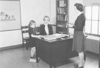 1943 Katherine Casanova In Campus School First Grade Office