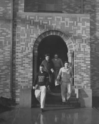 1947 Men's Residence Hall: East Front Entrance