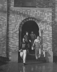 1947 Men's Residence Hall: East Front Entrance