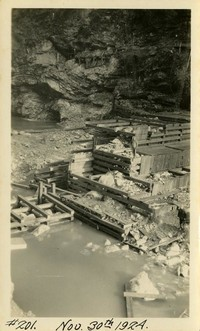 Lower Baker River dam construction 1924-11-30
