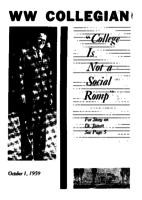 Western Washington Collegian - 1959 October 1