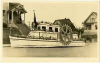 Rotary International float from Whatcom County Tulip Festival parade, 1923