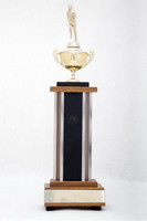 Cross-Country Running (Men's) Trophy: Evergreen conference 1st place (front), 1973