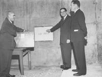 1959 Haggard Hall: Laying Cornerstone