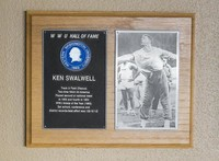 Hall of Fame Plaque: Ken Swalwell, Track and Field (Discus), Class of 1986