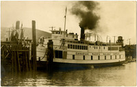 "Canadian Pacific Railway Company diesel ferry ""Motor Princess"" docked at ferry terminal"