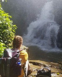 The Waterfall at the End of a Tough Hike
