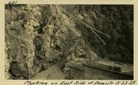Lower Baker River dam construction 1925-05-22 Mucking on East Side of Dam Site