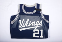 Basketball (Men's) Jersey:  #21, Manny Kimmie, 1990