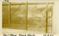 Lower Baker River dam construction 1925-10-04 Tail race Fish Trap Racks