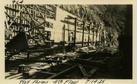 Lower Baker River dam construction 1925-07-14 Wall Forms 4th Floor