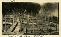 Lower Baker River dam construction 1925-07-29 Crest of the Dam