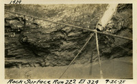 Lower Baker River dam construction 1925-09-26 Rock Surface Run #222 El.324