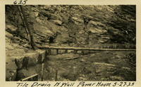 Lower Baker River dam construction 1925-05-27 Tile Drain N. Wall Power House
