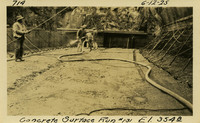 Lower Baker River dam construction 1925-06-12 Concrete Surface Run #131 El. 354.8
