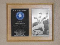 Hall of Fame Plaque: Steve Richardson, Football (Running Back), Baseball (Outfielder), Class of 1985