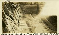 Lower Baker River dam construction 1925-10-07 Concrete Surface Run 233 El.310