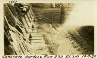 Lower Baker River dam construction 1925-10-07 Concrete Surface Run 233 El.310