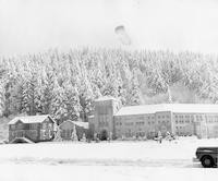 1950 Campus School Building With Snow