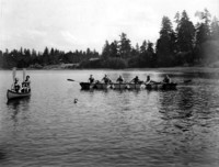 Canoeing at Hick's Lake, Washington