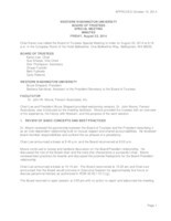 WWU Board of Trustees Minutes: 2014-08-22