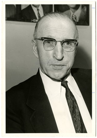 Head and shoulders photograph of George D. Zahn, Washington State Highway Commission Chairman